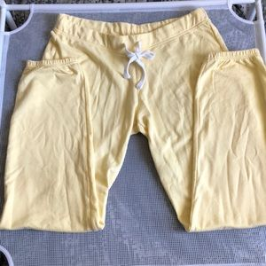 Yellow Sweatpants Joggers NWT